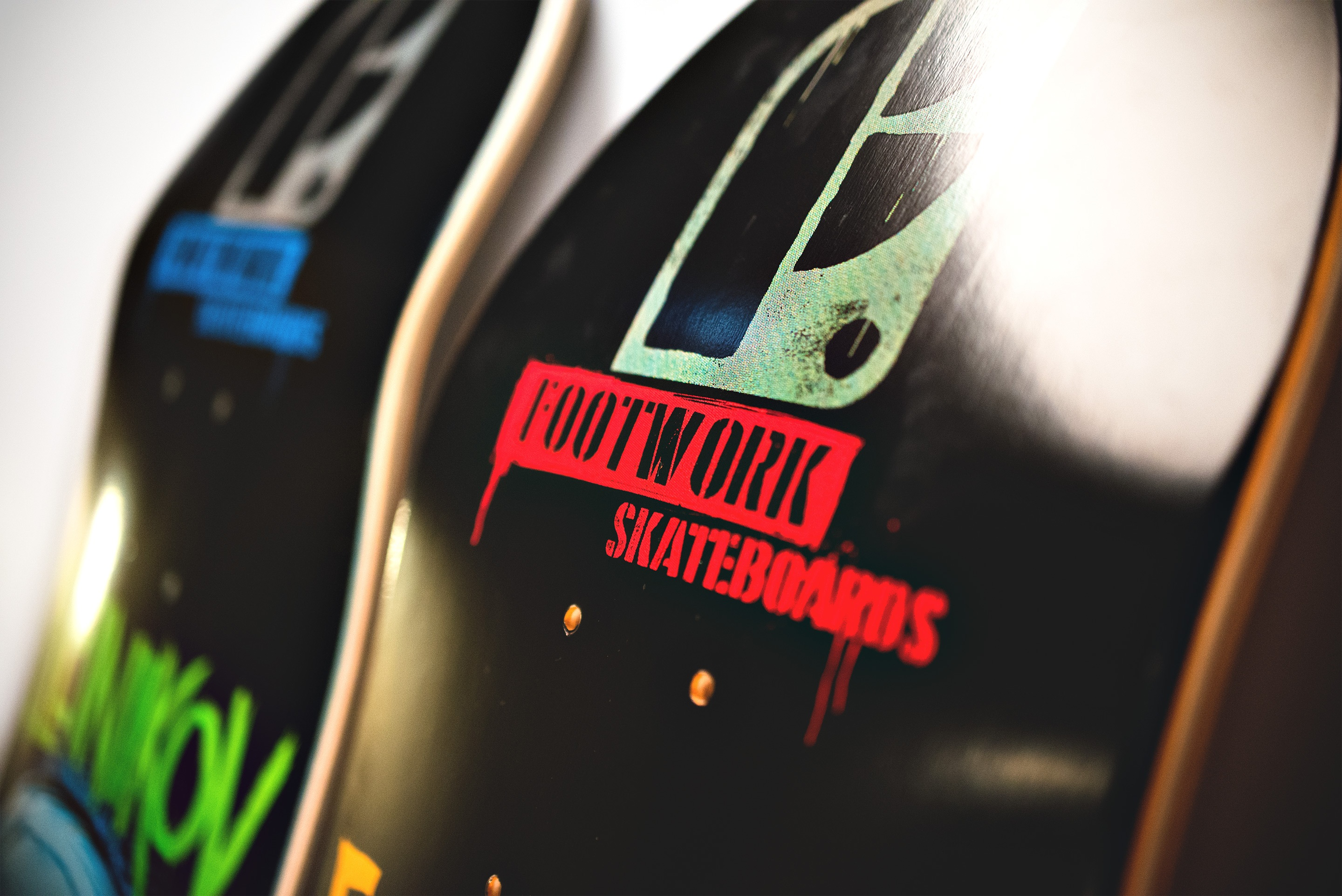 Footwork logo on boards