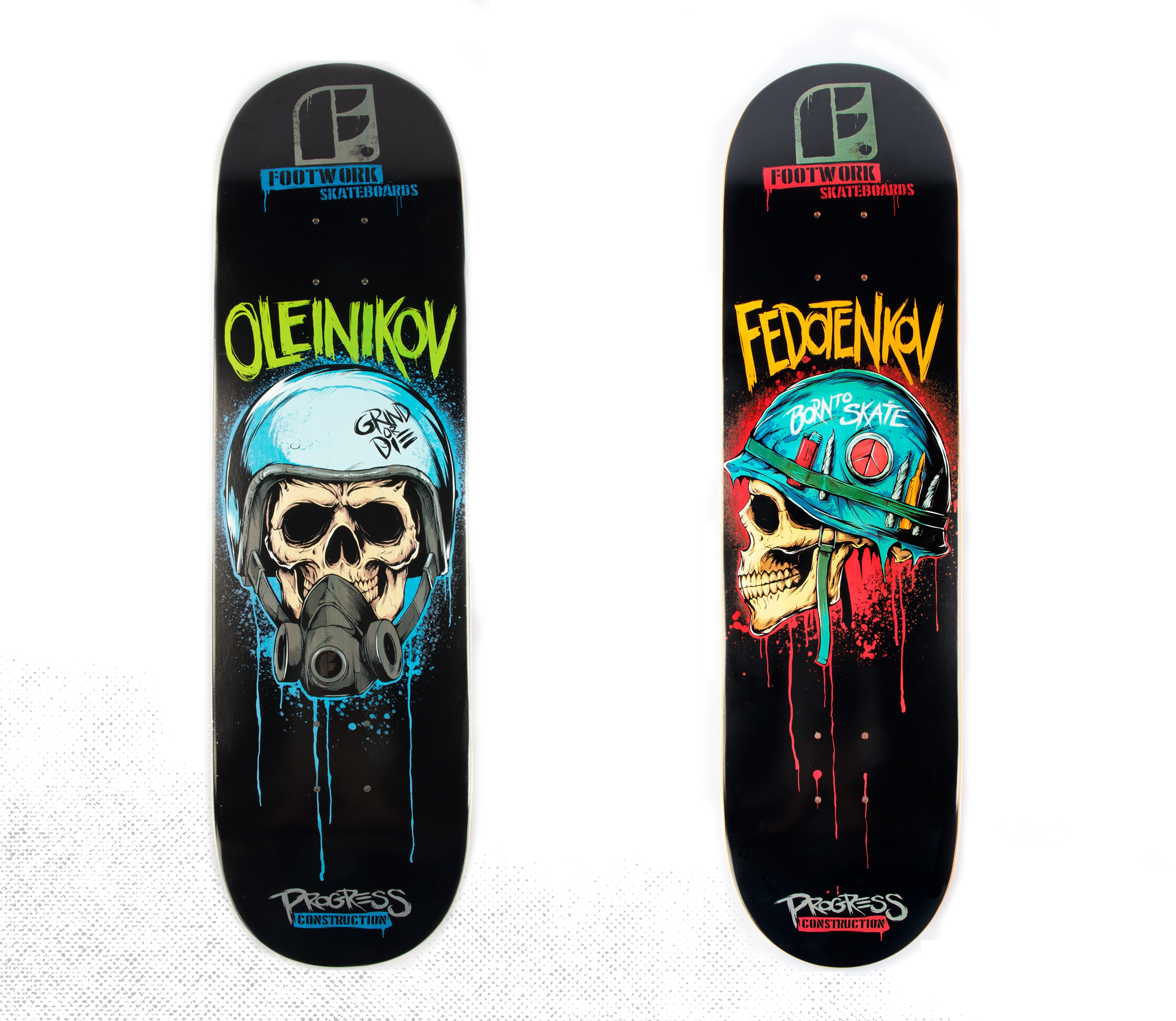 Movie billboards turned to skateboard designs