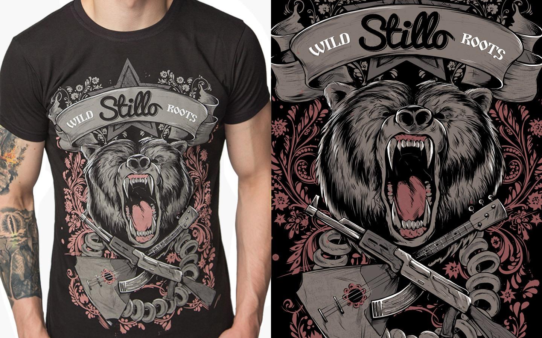 T-shirt «Wild Roots», black