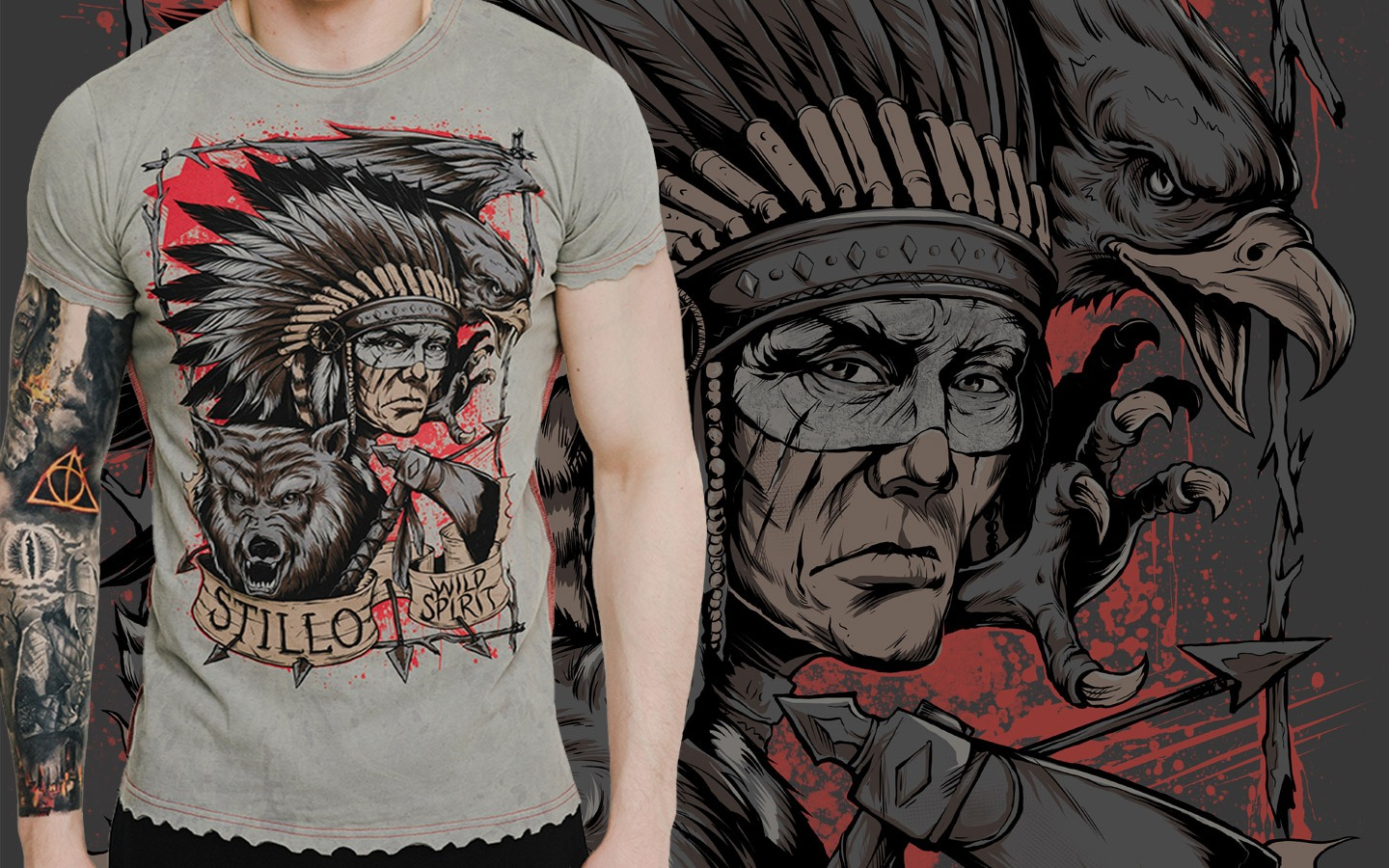 T-shirt «Wild Spirit», gray