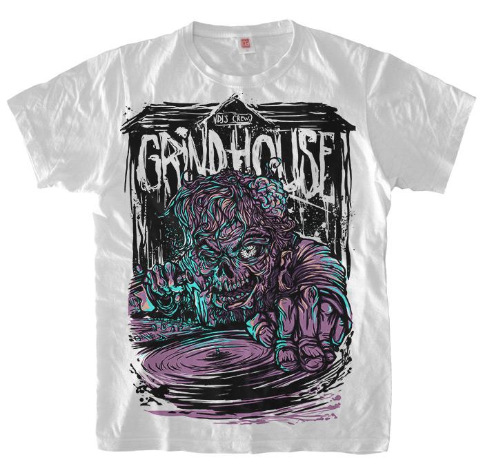 Grindhouse Drunk Zombie DJ T-Shirt