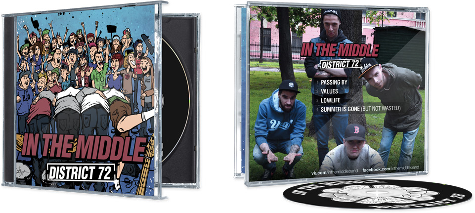 Front and back sides of CD packaging