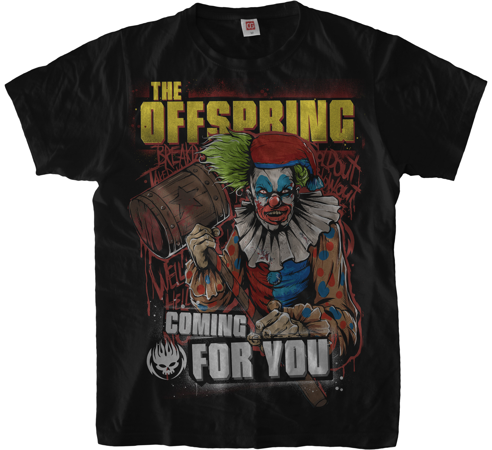 Black «Coming for you» T-Shirt for The Offspring