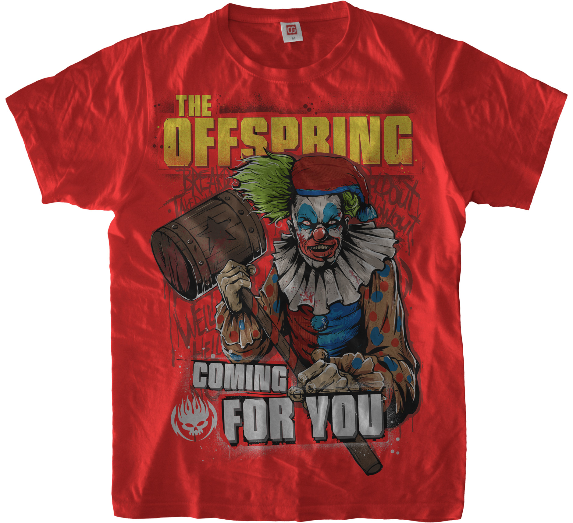 Red «Coming for you» T-Shirt for The Offspring