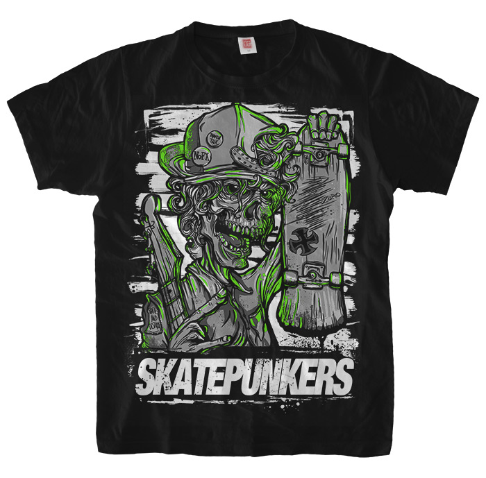 Skatepunkers.net black T-Shirt