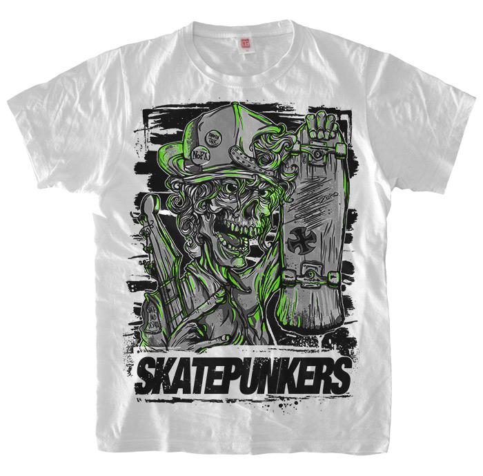 Skatepunkers.net white T-Shirt