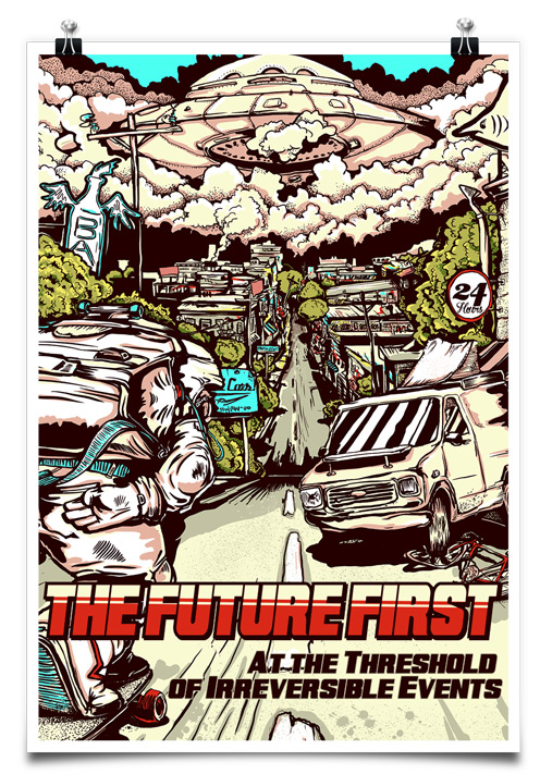 "The Future First ""At the Threshold of Irreversible Events"" poster"